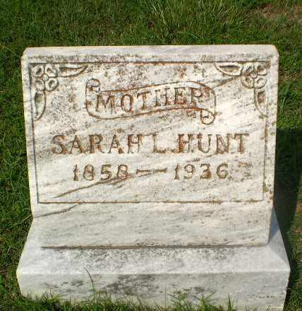HUNT, SARAH L - Craighead County, Arkansas | SARAH L HUNT - Arkansas Gravestone Photos
