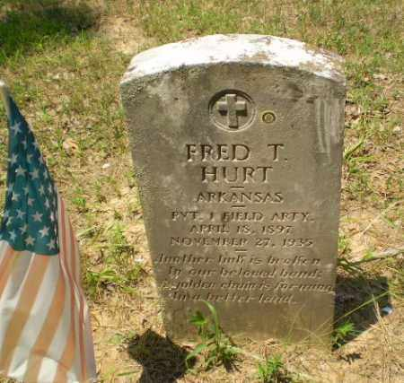 HURT  (VETERAN), FRED T - Craighead County, Arkansas | FRED T HURT  (VETERAN) - Arkansas Gravestone Photos