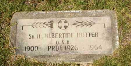 HUTTER, SISTER M. ALBERTINE - Craighead County, Arkansas   SISTER M. ALBERTINE HUTTER - Arkansas Gravestone Photos