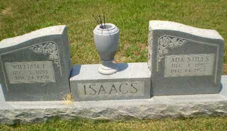 ISAACS, WILLIAM F - Craighead County, Arkansas | WILLIAM F ISAACS - Arkansas Gravestone Photos