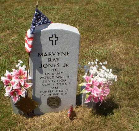 JONES, JR  (VETERAN WWII), MARVYNE RAY - Craighead County, Arkansas | MARVYNE RAY JONES, JR  (VETERAN WWII) - Arkansas Gravestone Photos