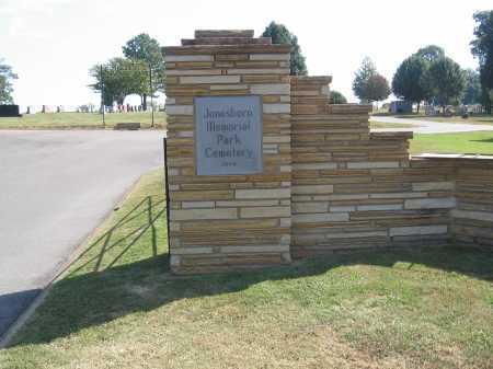 * JONESBORO MEMORIAL PARK, GATE & DIRECTIONS - Craighead County, Arkansas | GATE & DIRECTIONS * JONESBORO MEMORIAL PARK - Arkansas Gravestone Photos