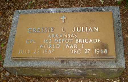 JULIAN (VETERAN WWI), CRESSIE L - Craighead County, Arkansas | CRESSIE L JULIAN (VETERAN WWI) - Arkansas Gravestone Photos