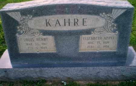 KAHRE, LOUIS HENRY - Craighead County, Arkansas   LOUIS HENRY KAHRE - Arkansas Gravestone Photos