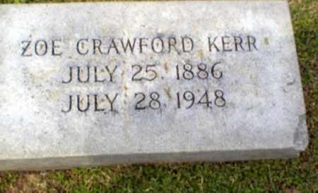 CRAWFORD KERR, ZOE - Craighead County, Arkansas | ZOE CRAWFORD KERR - Arkansas Gravestone Photos