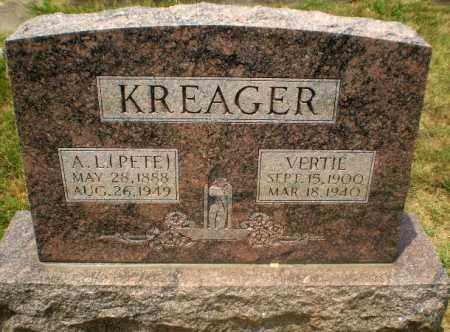 KREAGER, VERTIE - Craighead County, Arkansas | VERTIE KREAGER - Arkansas Gravestone Photos