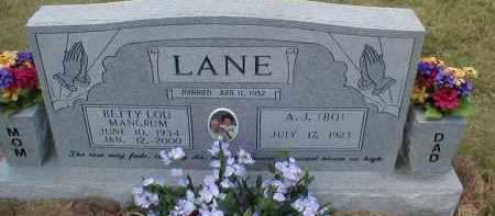MANGRUM LANE, BETTY LOU - Craighead County, Arkansas | BETTY LOU MANGRUM LANE - Arkansas Gravestone Photos