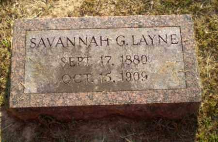 LAYNE, SAVANNAH G - Craighead County, Arkansas   SAVANNAH G LAYNE - Arkansas Gravestone Photos
