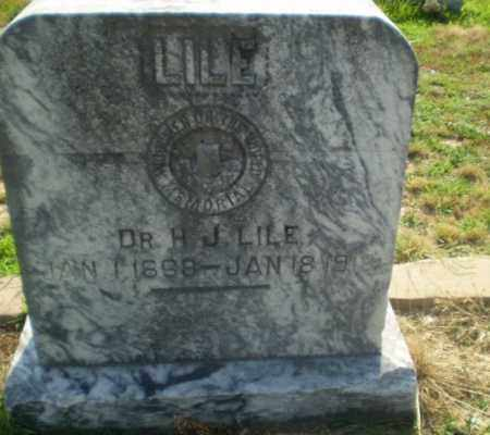 LILE, H.J. - Craighead County, Arkansas   H.J. LILE - Arkansas Gravestone Photos
