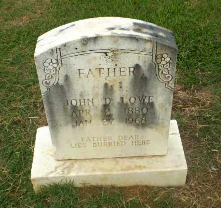 LOWE, JOHN D - Craighead County, Arkansas | JOHN D LOWE - Arkansas Gravestone Photos