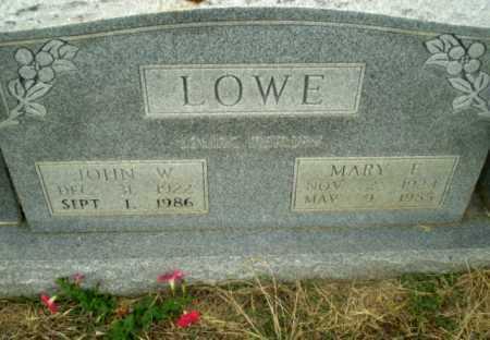 LOWE, MARY E - Craighead County, Arkansas | MARY E LOWE - Arkansas Gravestone Photos