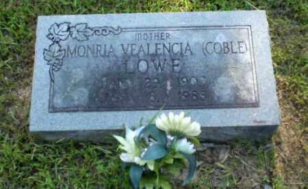 LOWE, MONRIA VEALENCIA - Craighead County, Arkansas   MONRIA VEALENCIA LOWE - Arkansas Gravestone Photos