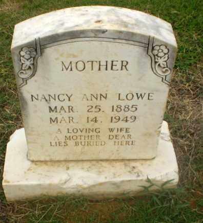 LOWE, NANCY ANN - Craighead County, Arkansas   NANCY ANN LOWE - Arkansas Gravestone Photos