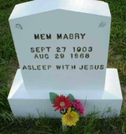 MABRY, MEM - Craighead County, Arkansas | MEM MABRY - Arkansas Gravestone Photos