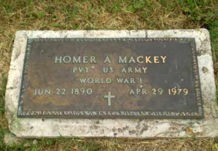MACKEY  (VETERAN WWI), HOMER A - Craighead County, Arkansas   HOMER A MACKEY  (VETERAN WWI) - Arkansas Gravestone Photos