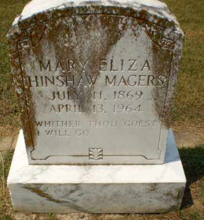 HINSHAW MAGERS, MARY ELIZA - Craighead County, Arkansas | MARY ELIZA HINSHAW MAGERS - Arkansas Gravestone Photos