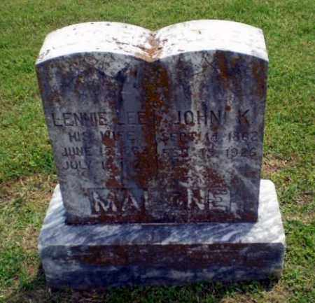 MALONE, LENNIE LEE - Craighead County, Arkansas | LENNIE LEE MALONE - Arkansas Gravestone Photos