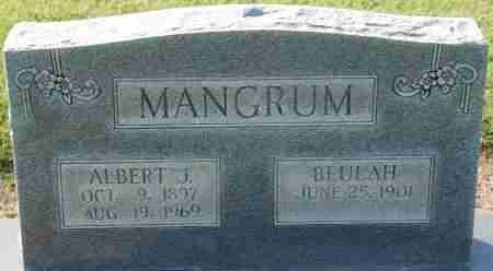 MANGRUM, ALBERT J - Craighead County, Arkansas | ALBERT J MANGRUM - Arkansas Gravestone Photos