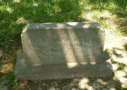 MANGRUM, EUGENIA MARIE - Craighead County, Arkansas   EUGENIA MARIE MANGRUM - Arkansas Gravestone Photos