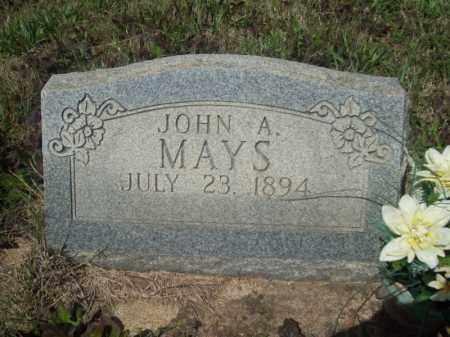 MAYS, JOHN A. - Craighead County, Arkansas | JOHN A. MAYS - Arkansas Gravestone Photos