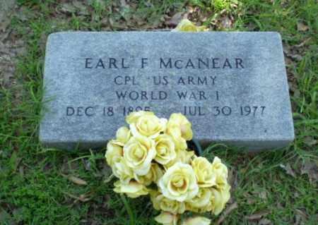 MCANEAR  (VETERAN WWI), EARL F - Craighead County, Arkansas | EARL F MCANEAR  (VETERAN WWI) - Arkansas Gravestone Photos