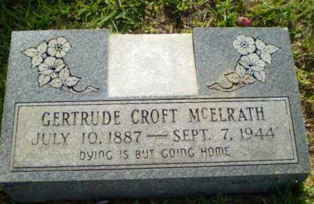 MCELRATH, GERTRUDE - Craighead County, Arkansas | GERTRUDE MCELRATH - Arkansas Gravestone Photos