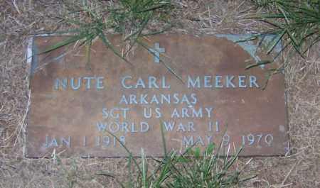 MEEKER  (VETERAN WWII), NUTE CARL - Craighead County, Arkansas | NUTE CARL MEEKER  (VETERAN WWII) - Arkansas Gravestone Photos