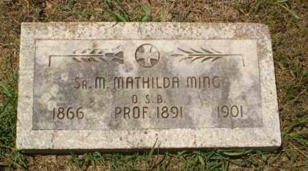 MING, SISTER M. MATHILDA - Craighead County, Arkansas | SISTER M. MATHILDA MING - Arkansas Gravestone Photos