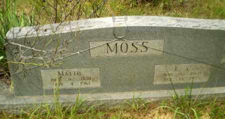 MOSS, E.C. - Craighead County, Arkansas | E.C. MOSS - Arkansas Gravestone Photos