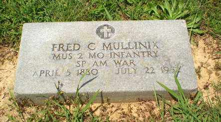 MULLINIX  (VETERAN SAW), FRED C - Craighead County, Arkansas | FRED C MULLINIX  (VETERAN SAW) - Arkansas Gravestone Photos