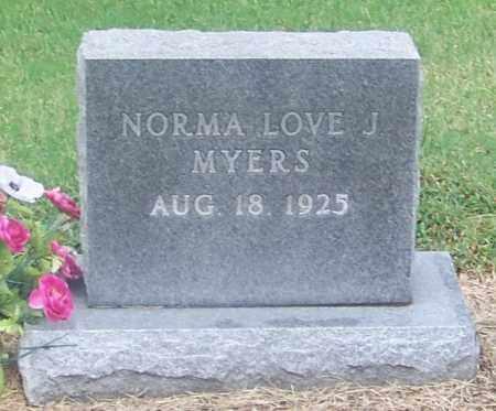 MYERS, NORMA LOVE J - Craighead County, Arkansas | NORMA LOVE J MYERS - Arkansas Gravestone Photos