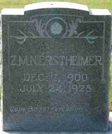 NIERSTHEIMER, Z. M. - Craighead County, Arkansas   Z. M. NIERSTHEIMER - Arkansas Gravestone Photos