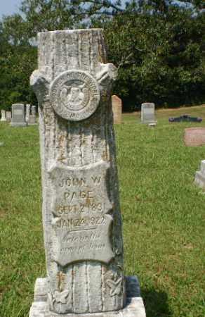 PAGE, JOHN W - Craighead County, Arkansas | JOHN W PAGE - Arkansas Gravestone Photos