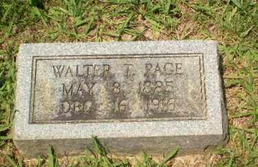 PAGE, WALTER T - Craighead County, Arkansas | WALTER T PAGE - Arkansas Gravestone Photos
