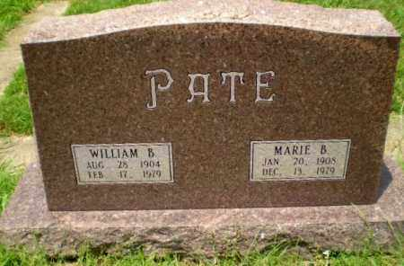 PATE, MARIE B - Craighead County, Arkansas | MARIE B PATE - Arkansas Gravestone Photos