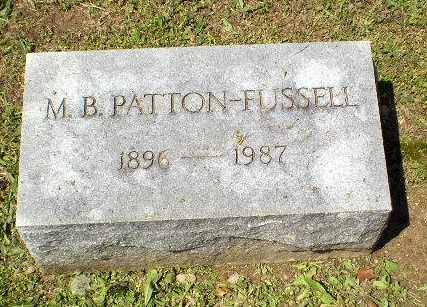 PATTON-RUSSELL, M.B. - Craighead County, Arkansas | M.B. PATTON-RUSSELL - Arkansas Gravestone Photos