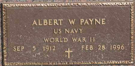 PAYNE  (VETERAN WWII), ALBERT W - Craighead County, Arkansas | ALBERT W PAYNE  (VETERAN WWII) - Arkansas Gravestone Photos