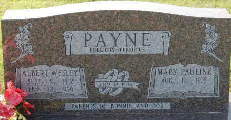 PAYNE, ALBERT WESLEY - Craighead County, Arkansas   ALBERT WESLEY PAYNE - Arkansas Gravestone Photos