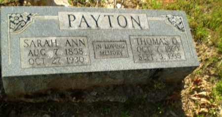 PAYTON, SARAH ANN - Craighead County, Arkansas   SARAH ANN PAYTON - Arkansas Gravestone Photos