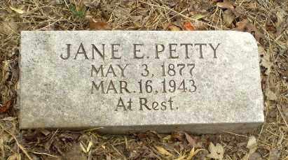 PETTY, JANE E - Craighead County, Arkansas   JANE E PETTY - Arkansas Gravestone Photos