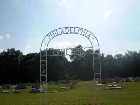 *PHILADELPHIA, CEMETERY SIGN - Craighead County, Arkansas | CEMETERY SIGN *PHILADELPHIA - Arkansas Gravestone Photos