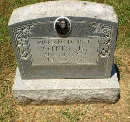 "POTTS, WILLIAM ""BILL"" D - Craighead County, Arkansas | WILLIAM ""BILL"" D POTTS - Arkansas Gravestone Photos"