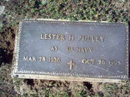 PULLEY (VETERAN), LESTER H - Craighead County, Arkansas | LESTER H PULLEY (VETERAN) - Arkansas Gravestone Photos