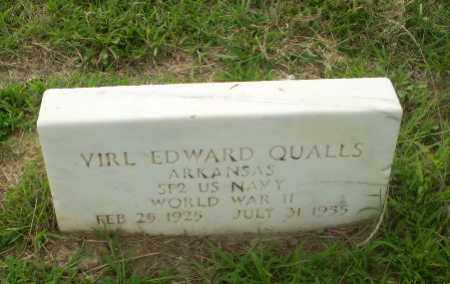 QUALLS  (VETERAN WWII), VIRL EDWARD - Craighead County, Arkansas   VIRL EDWARD QUALLS  (VETERAN WWII) - Arkansas Gravestone Photos