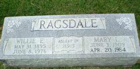 RAGSDALE, WILLIE E - Craighead County, Arkansas   WILLIE E RAGSDALE - Arkansas Gravestone Photos