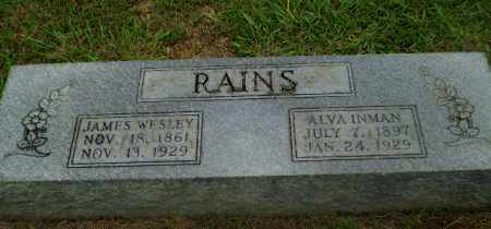 INMAN RAINS, ALVA - Craighead County, Arkansas | ALVA INMAN RAINS - Arkansas Gravestone Photos