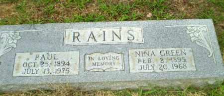 RAINS, NINA - Craighead County, Arkansas | NINA RAINS - Arkansas Gravestone Photos