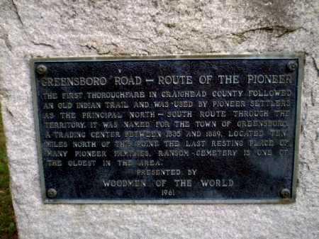 *RANSOM HISTORICAL MONUMENT,  - Craighead County, Arkansas |  *RANSOM HISTORICAL MONUMENT - Arkansas Gravestone Photos