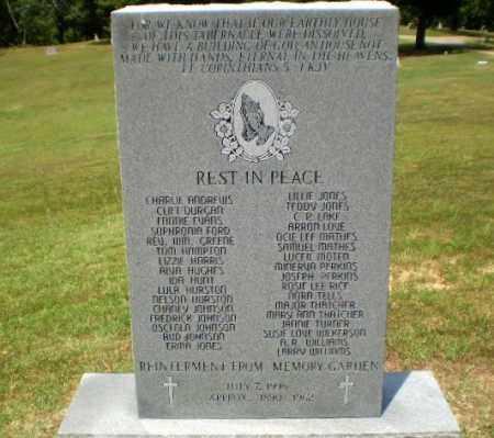 *REINTERMENT FROM MEMORY GARDE, MONUMENT - Craighead County, Arkansas | MONUMENT *REINTERMENT FROM MEMORY GARDE - Arkansas Gravestone Photos