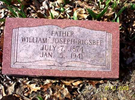 RIGSBEE, WILLIAM JOSEPH - Craighead County, Arkansas | WILLIAM JOSEPH RIGSBEE - Arkansas Gravestone Photos